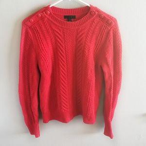 J Crew Medium Red Sweater 100% Wool
